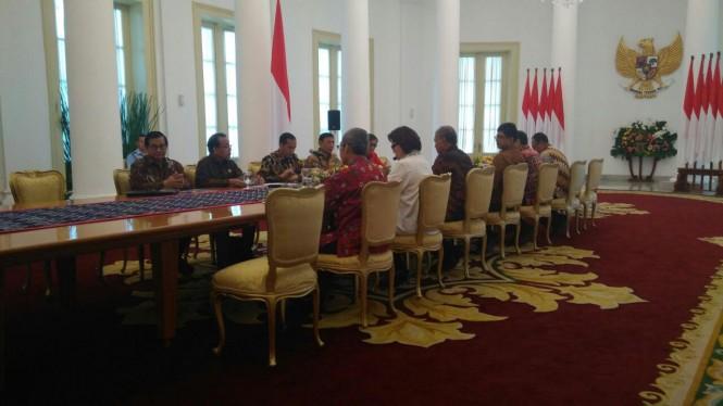 Presiden Joko Widodo bertemu pimpinan KPK - Medcom.id/Achmad Zulfikar Fazli.
