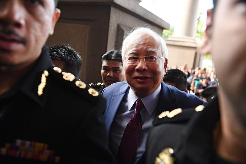 Mantan Perdana Menteri Malaysia Najib Razak didakwa korupsi (Foto: AFP).
