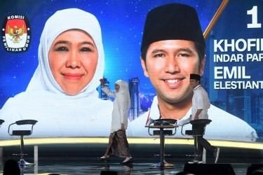 Calon Gubernur dan Wakil Gubernur Jawa Timur nomor urut satu
