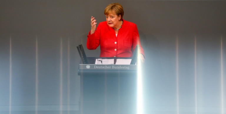 Merkel this week survived a major political crisis that threatened to unseat her. (Photo:AFP/Omer Messinger)