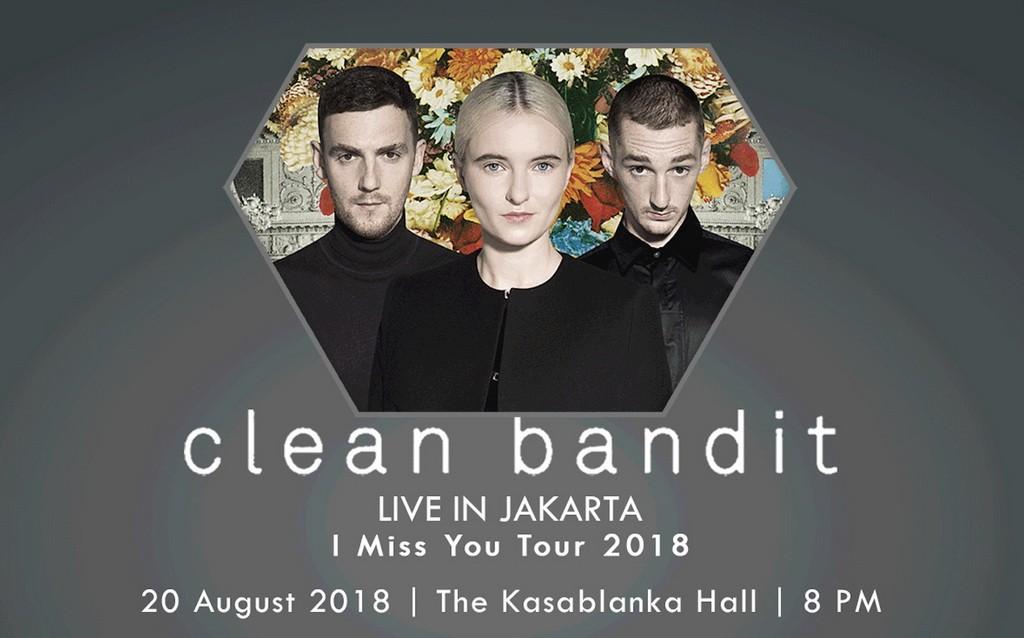 Poster konser Clean Bandit di Jakarta (Foto: ottelloasia)