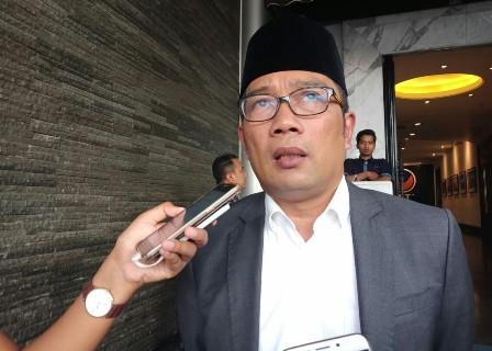 Ridwan Kamil di DPP Partai NasDem/Medcom.id/Arga Sumantri