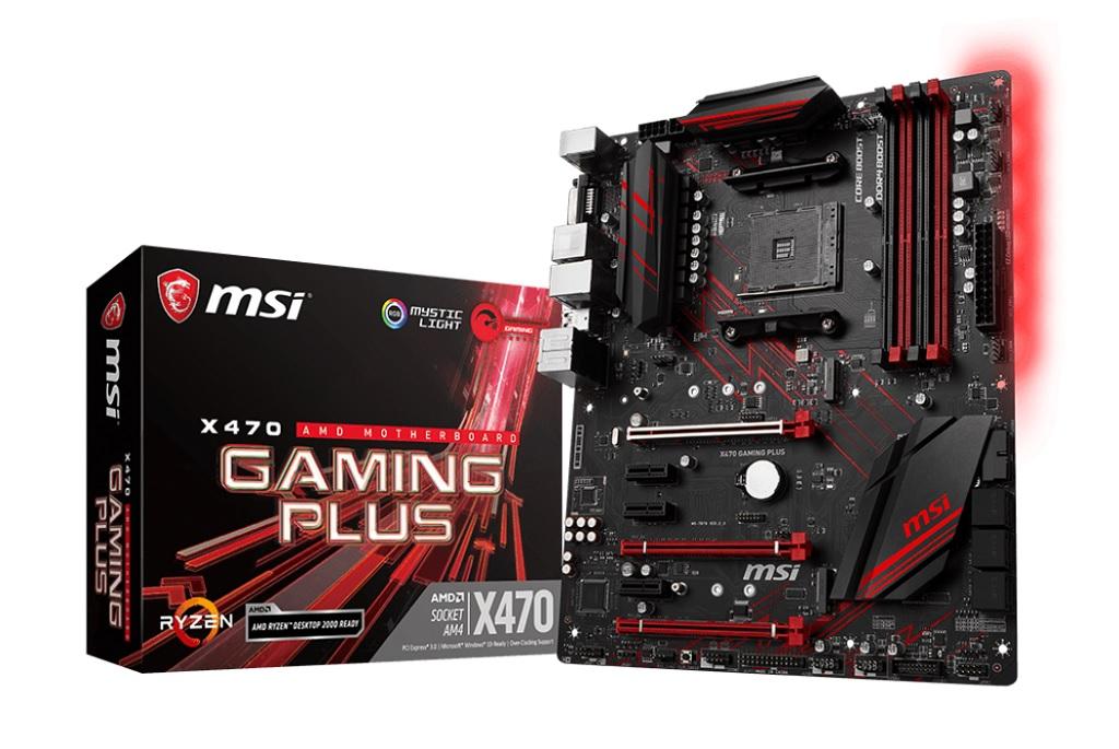 MSI X470 Gaming Plus.