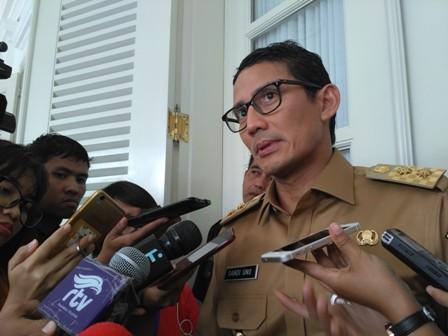 Wagub DKI Jakarta Sandiaga Uno/Medcom.id/Nur Azizah