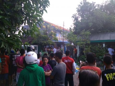 Lokasi ledakan di garis polisi. Medcom.id/Hadi