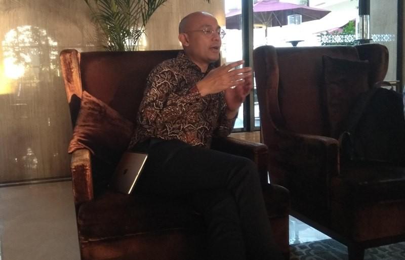 Juru Bicara Kementerian Luar Negeri Arrmanatha Nasir di lokasi penyelenggaraan JCM ke-9 di Hotel Tentrem, Yogyakarta, Kamis 5 Juli 2018. (Foto: Willy Haryono).