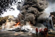 2 Orang Terluka dalam Kebakaran Gudang Kimia di Kampung Bandang