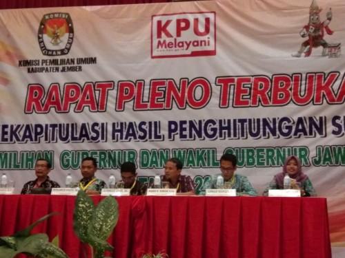 Rapat Pleno Terbuka Rekapitulasi Hasil Perhitungan Suara Pilgub