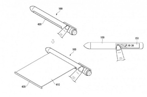 LG dilaporkan mematenkan stylus cerdas dengan bekal layar
