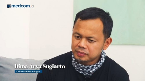 Petahana Wali Kota Bogor Bima Arya. Medcom.id