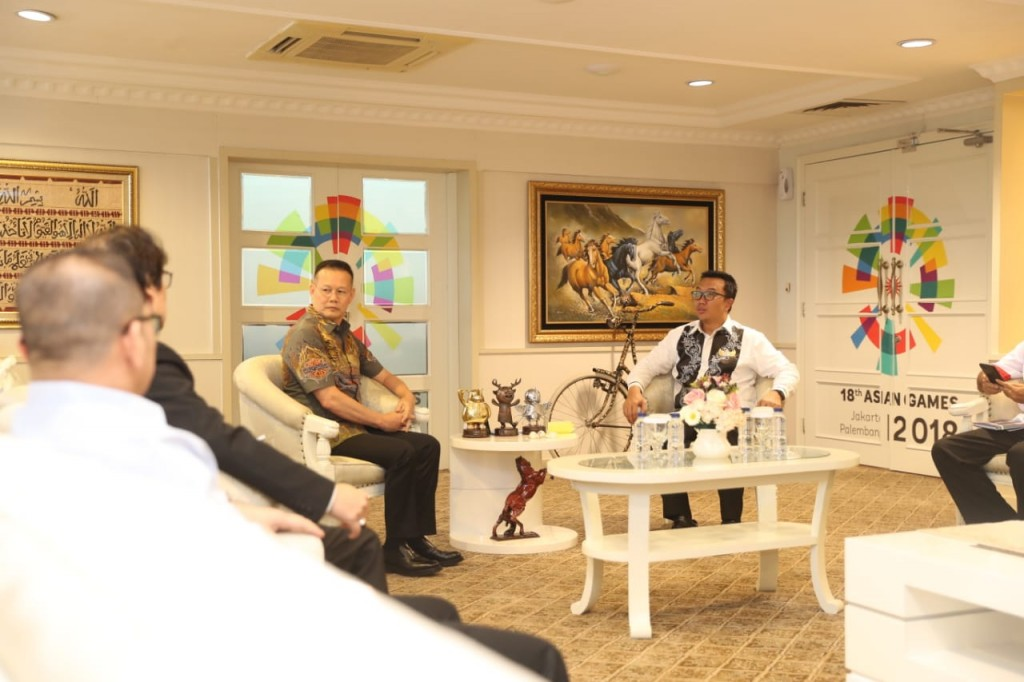 Menpora Imam Nahrawi menerima  Persaudaraan Beladiri Shorinji Kempo Indonesia (Perkemi). Foto: Dok. Kemenpora