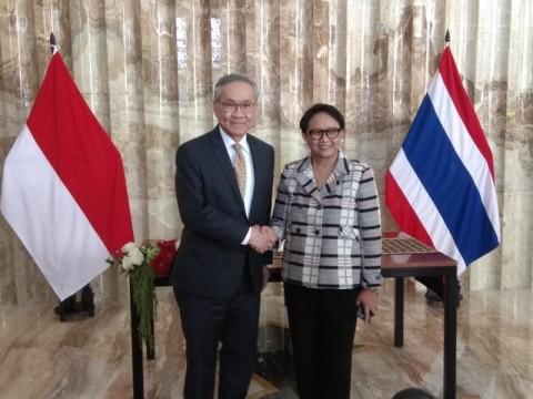 Pertemuan antara Menteri Luar Negeri Retno Marsudi dan Menlu
