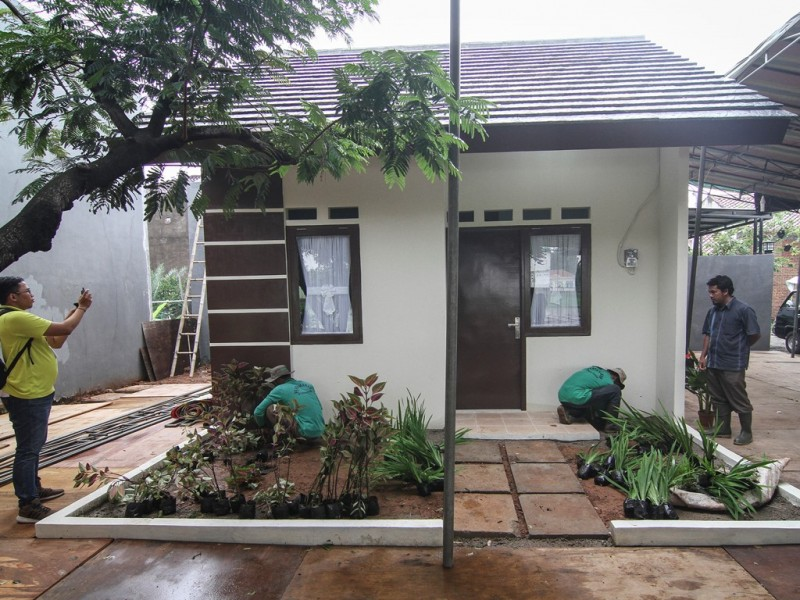 Ilustrasi rumah DP Rp0. (Foto: Antara/Dhemas Reviyanto).