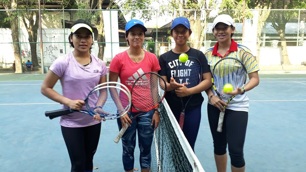 Petenis putri Indonesia di Women's Circuit International Tennis 2018.