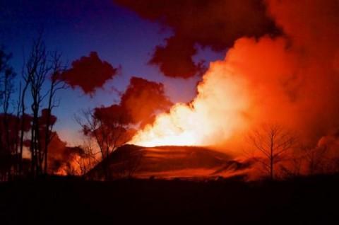 Lava dari gunung Kilauea telah menghancurkan lebih dari 600