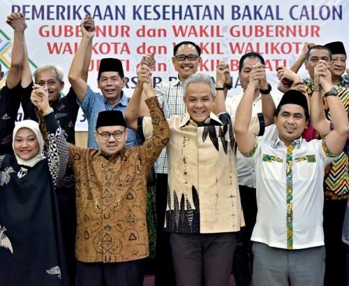 Pasangan calon Pilgub Jawa Tengah Ganjar Pranowo (kedua