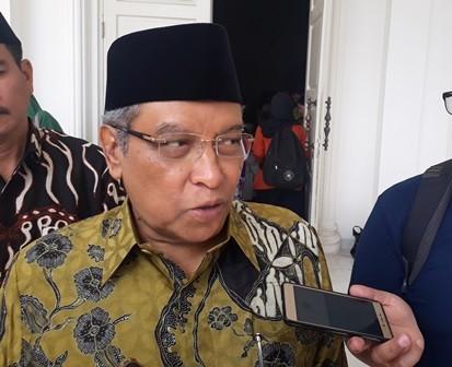 Ketua PBNU, Said Aqil Siradj di Kalibata, Jakarta Selatan,