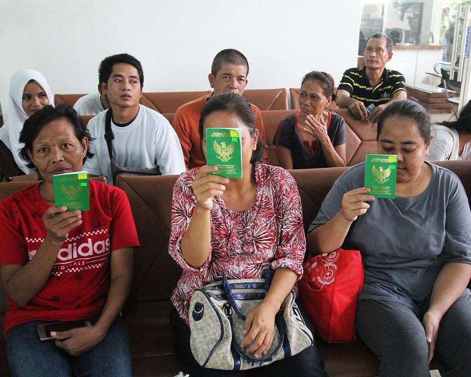 TKI ilegal di Malaysia. (Foto: ASWADDY HAMID/ANTARA).