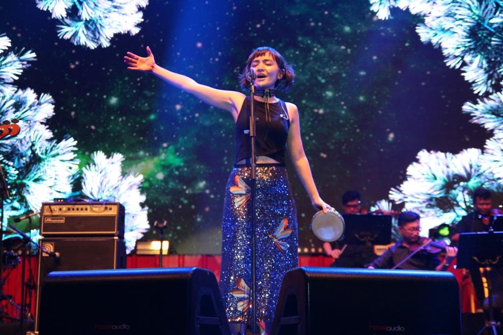 Penampilan Stars & Rabbit pada gelaran Soundsations 100 Kota 1 Bahasa Jakarta (Foto: Medcom.id/Purba Wirastama)