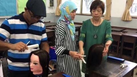 TKI yang belajar ketrampilan di Taiwan (Foto: Usman Kansong).