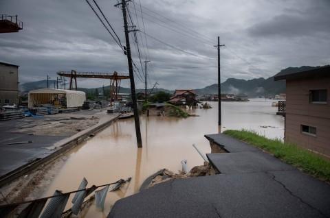 Banjir di wilayah Mihara, Jepang, 8 Juli 2018. (Foto: AFP/MARTIN