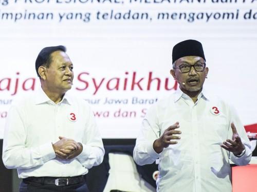 Pasangan calon nomor urut tiga Jawa Barat 2018 Sudrajat-Ahmad