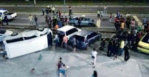 Kecelakaan lalu lintas di Tawau yang menewaskan empat orang.