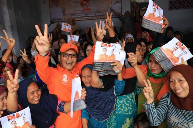 Calon wali Kota Makassar, Sulawesi Selatan, Mohammad Ramdhan Pomanto