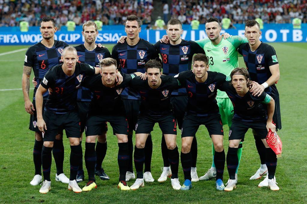 Skuat Timnas Kroasia. (Foto: AFP/ Adrian Dennis)