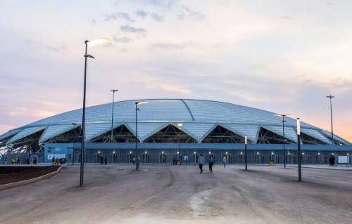 Ide desain Samara Arena muncul dari sejarah peran Samara dalam