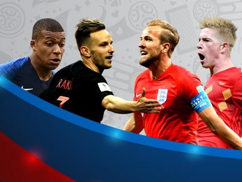 Statistik Pertandingan Kroasia Kontra Inggris di Semifinal Piala