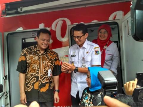 Wakil Gubernur DKI Jakarta Sandiaga Salahuddin Uno saat