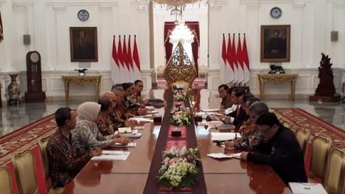 Presiden Jokowi menerima kunjungan KPU/Medcom.id/Fikar