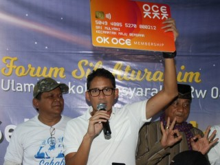 Sandi Janji Umrahkan Pendaftar ke-40 Ribu OK OCE