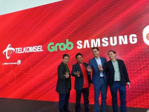 Grab bekerja sama dengan Telkomse, Samsung dan Erafone.