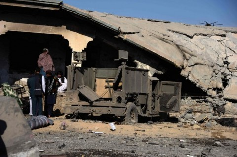 Lokasi bom bunuh diri di distrik Maiwand, provinsi Kandahar,