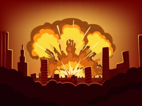 Ilustrasi ledakan--Medcom.id