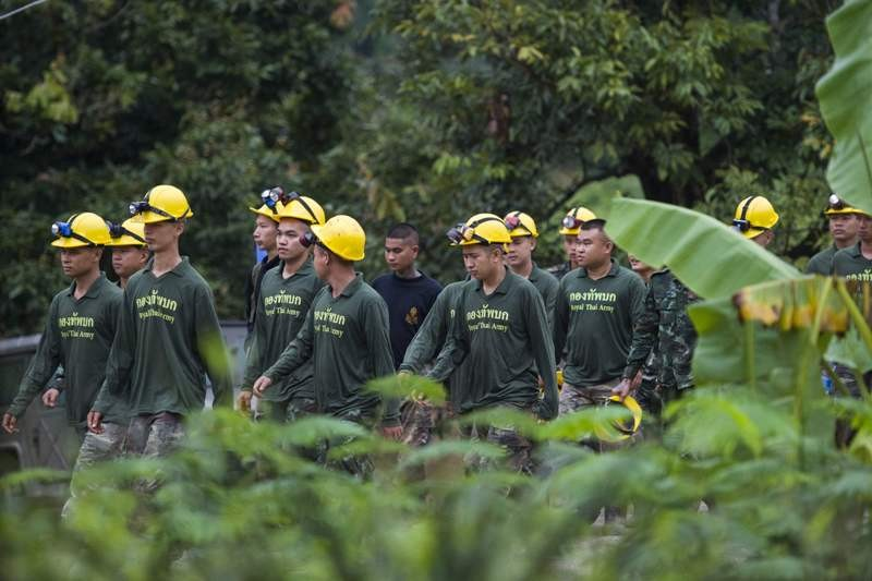 The mission to rescue 12 boys and their soccer coach from a Thai cave is to get the Hollywood treatment. (Photo: AFP).