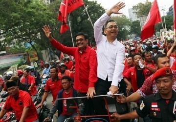 Calon gubernur dan wakil gubernur Sumut Djarot Saiful Hidayat