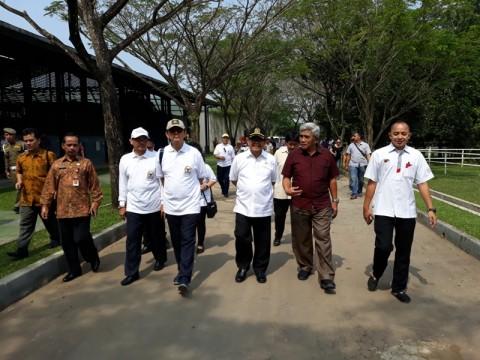 Ketua Komisi X DPR RI Abdul Fikri Faqih meninjau venue Asian