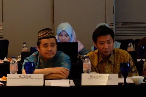 Ketua HIPMI Jateng, Billya Dahlan (kanan) dan Ketua Muhamadiyah