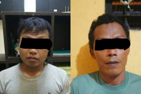Dua tersangka pembobol brankas yang ditangkap. (Dok Polresta
