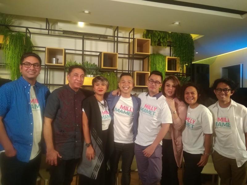 Pemain dan tim produksi Milly dan Mamet (Foto: Medcom/CJumpa media film Milly & Mamet di Jakarta, Kamis, 12 Juli 2018. (Foto: Medcom.id/Cecylia Rura)