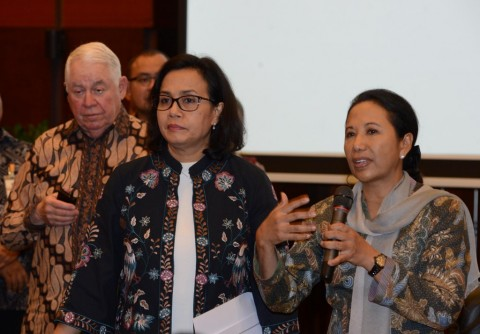 CEO Freeport Richard Akerson, Menkeu Sri Mulyani, dan Menteri