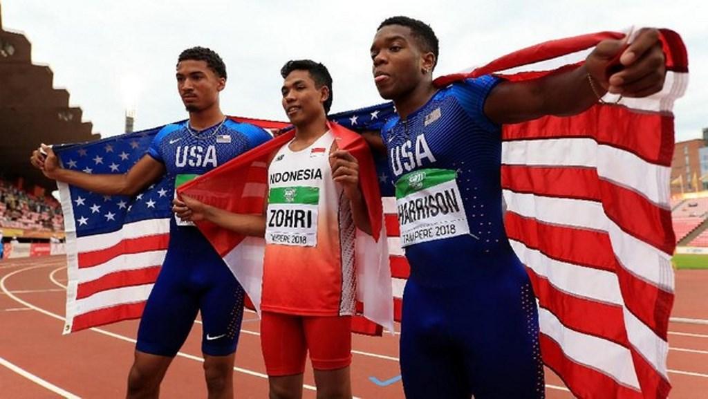 Lalu Muhammad Zohri (tengah) (Foto: IAAF)