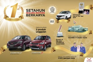Wuling Catatkan Peningkatan Penjualan Setahun di Indonesia
