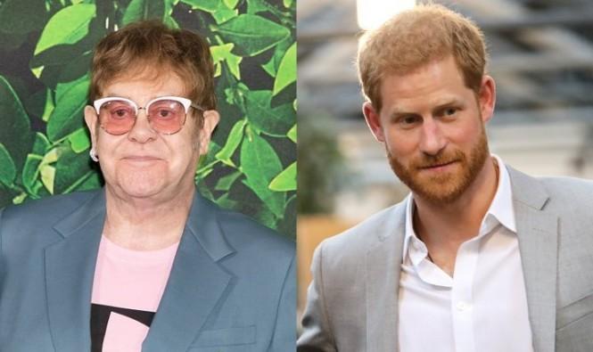 Elton John dan Pangeran harry (Foto: wenn)