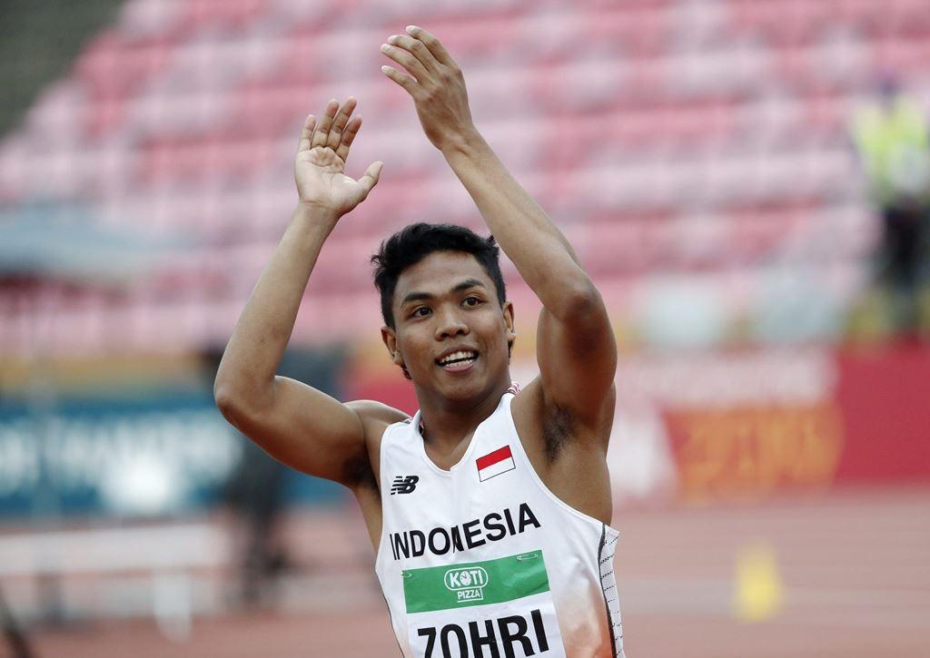 Lalu Muhammad Zohri saat memenangi emas di kejuaran dunia atletik dunia U-20 (Foto: IAAF)