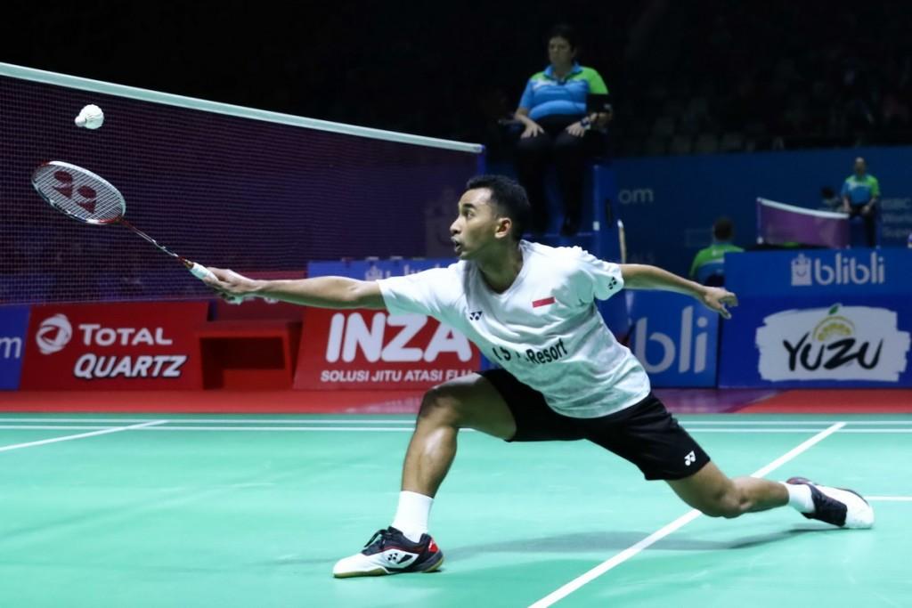 Tunggal putra Indonesia Tommy Sugiarto (Foto: Humas PBSI)