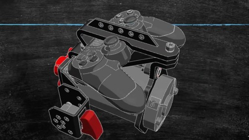 Desain mod stik MEGA-one. (Kickstarter)